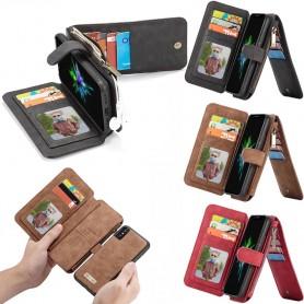 Monikäyttöinen lompakko 14 korttia Apple iPhone XS Max Mobile Wallet Magnetic 2i1 irrotettava