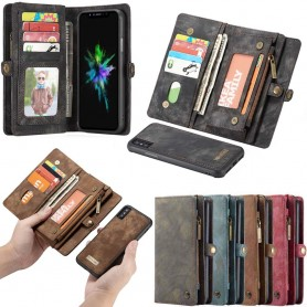 Monikäyttöinen 11-korttinen Apple iPhone XS Max -laukku lompakko vetoketjullinen Caseonline