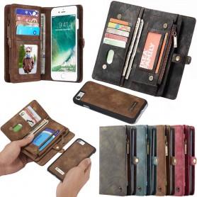Multi Wallet 11 -kortti Apple iPhone 7/8 -moottorin lompakon vetoketjullinen kolikkotasku