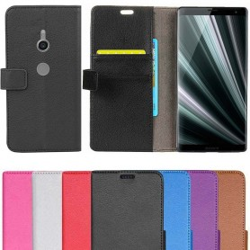 Kannettava lompakko 2 -kortti Sony Xperia XZ3 kannettava kansi