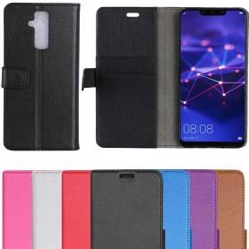 Kannettava lompakko 2-kortti Huawei Mate 20 Lite -kotelo matkapuhelimen suojaus