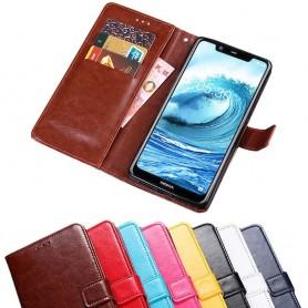 Kannettava lompakko 3-kortti Nokia 5.1 Plus -kannettava suojakotelo