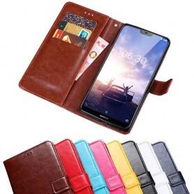 Kannettava lompakko 3-kortti Nokia 6.1 Plus -kannettava kansi
