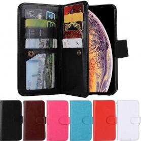 Double flip Magnet 2i1 irrotettava kuori 9kortti Apple iPhone XS Max matkapuhelimen kansi