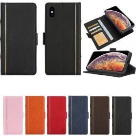 Retro Book Wallet 2i1 Apple iPhone XS Max -magneettinen kotelo