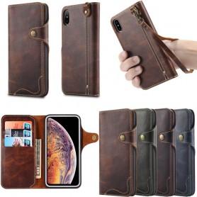 Kannettava lompakko 3 -kortti aito nahka Apple iPhone XS Max -kotelo