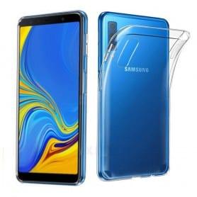 Samsung Galaxy A7 2018 silikonikotelo, läpinäkyvä kannettava kuori