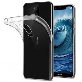 Nokia 5.1 Plus silikonikotelo, läpinäkyvä kannettava kuori
