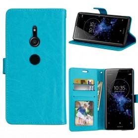 Kannettava lompakko 3 -kortti Sony Xperia XZ2 - sininen
