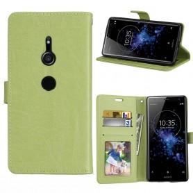 Kannettava lompakko 3 -kortti Sony Xperia XZ2 - vihreä