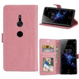 Kannettava lompakko 3-kortti Sony Xperia XZ2 - vaaleanpunainen