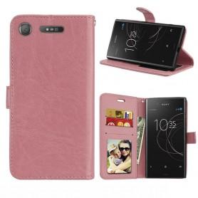 Kannettava lompakko 3-kortti Sony Xperia XZ1 - vaaleanpunainen