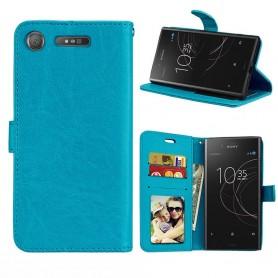 Kannettava lompakko 3 -kortti Sony Xperia XZ1 - sininen