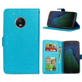 Matkapuhelimen lompakko 3-korttinen Motorola Moto G5 Plus - sininen