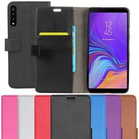 Kannettava lompakko 2 -kortti Samsung Galaxy A7 2018 kannettava suojakotelo