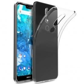 Nokia 7.1 Plus silikonikotelo, läpinäkyvä kannettava kuori