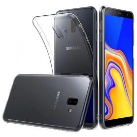 Silikonikannen läpinäkyvä kannettava kuori Samsung Galaxy J6 Plus (SM-J610F) Caseonline-suojaus