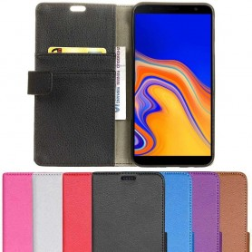 Kannettava lompakko 2 -kortti Samsung Galaxy J4 Plus 2018 (SM-J415F) -kotelo
