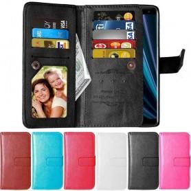 Kaksinkertainen läppä Flexi 9 -kortti Sony Xperia XZ3 (H9436) -laukku lompakko