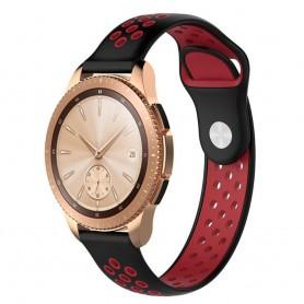 EBN Sport -rannekoru Samsung Galaxy Watch 42mm Musta / Punainen (S)