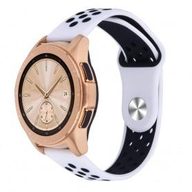 EBN Sport -rannekoru Samsung Galaxy Watch 42mm Valkoinen / Musta (S)
