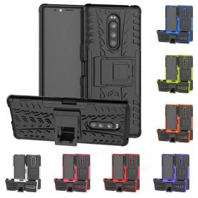 Iskunkestävä kuori telineellä Sony Xperia 1 kannettava suojakotelo
