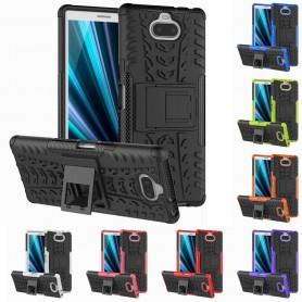 Iskunkestävä kuori telineellä Sony Xperia 10 (I4113) matkapuhelimen kansi silikoni suojakotelo