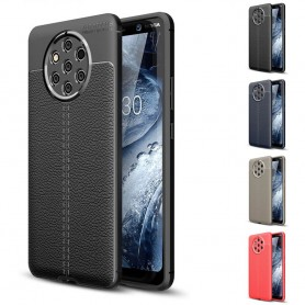 Nahkakuvioitu TPU-kuori Nokia 9 PureView (TA-1094) matkapuhelinlaukku