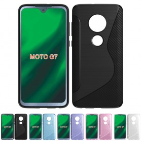 S Line -silikonikotelo Motorola Moto G7 (XT1962)-matkapuhelimen suojakotelolle