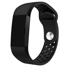 Fitbit Charge 3 EBN Sport -rannekoru - musta
