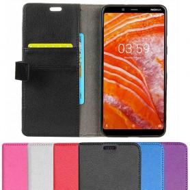 Mobiili lompakko 2 -kortti Nokia 3.1 Plus (TA-1118)-matkapuhelimen suojakotelo