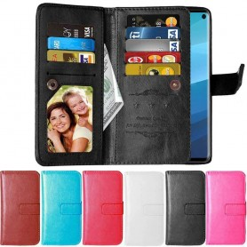 Kaksinkertainen läppä Flexi 9 -kortti Samsung Galaxy S10E (SM-G970F) matkapuhelin kotelo matkapuhelin kotelo