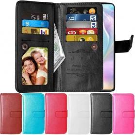 kännykkäkotelo Double Flip Flexi 9 -kortti Huawei P30 Lite (MAR-LX1) matkapuhelimen kotelosuojakotelo caseonline