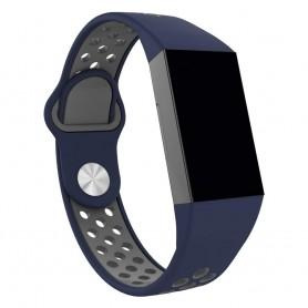 Fitbit Charge 3 EBN Sport -rannekoru - sininen / harmaa