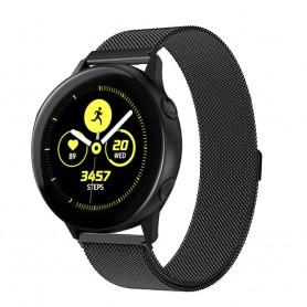 Milanese RSF teräsrannekoru Samsung Galaxy Watch Active - musta