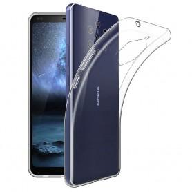 Silikonikotelo läpinäkyvä Nokia 9 PureView (TA-1094)