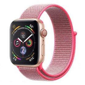 Apple Watch 4 (44 mm) nylonrannekoru - Hot Pink