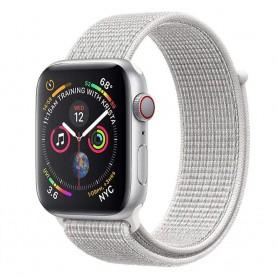 Apple Watch 4 (44 mm) nylonrannekoru - Summit White