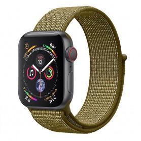 Apple Watch 4 (44 mm) nylonrannekoru - oliivilakko