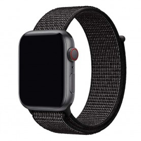 Apple Watch 42 mm nailonrannekoru - musta Nike