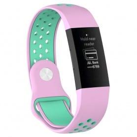 EBN Sport Rannekoru Fitbit Charge 3 - vaaleanpunainen / minttu