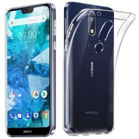 Silikonikotelo läpinäkyvälle Nokia 7.1 2018 (TA-1095)