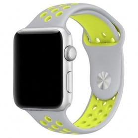 EBN Sport Rannekoru Apple Watch 4 (44) - harmaa / keltainen