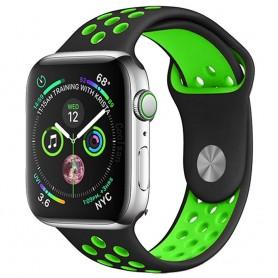 EBN Sport Rannekoru Apple Watch 4 (40) - musta / vihreä