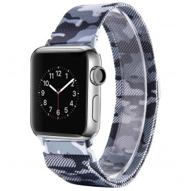Apple Watch 4 (40) rannekoru Milanese Camo - harmaa