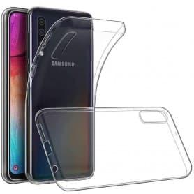 Silikonikotelo läpinäkyvä Samsung Galaxy A70 (SM-A705F)