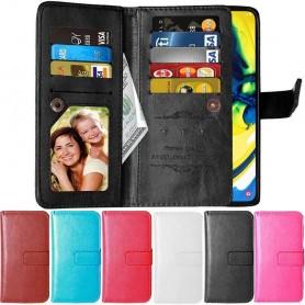 Kannettava lompakkokotelo Double Flip Flexi 9 -kortti Samsung Galaxy A80 (SM-A805F)