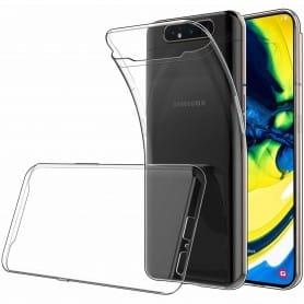 Silikonikuori läpinäkyvä Samsung Galaxy A80 (SM-A805F) matkapuhelinkuori