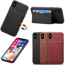 "Denior nahkakotelo, korttipaikka Apple iPhone X / XS (5.8 "")"
