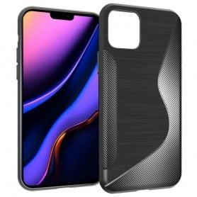 """Matkapuhelimen S-Line-silikonikotelo Apple iPhone 6.5 """"(2019) - musta"""